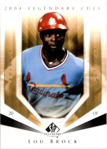 Photo of 2004 SP Legendary Cuts #72 Lou Brock