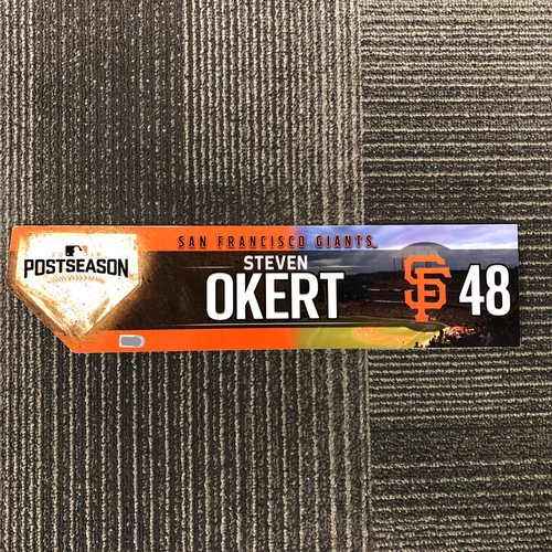 Photo of 2016 Postseason Game-Used Locker Tag - #48 Steven Okert