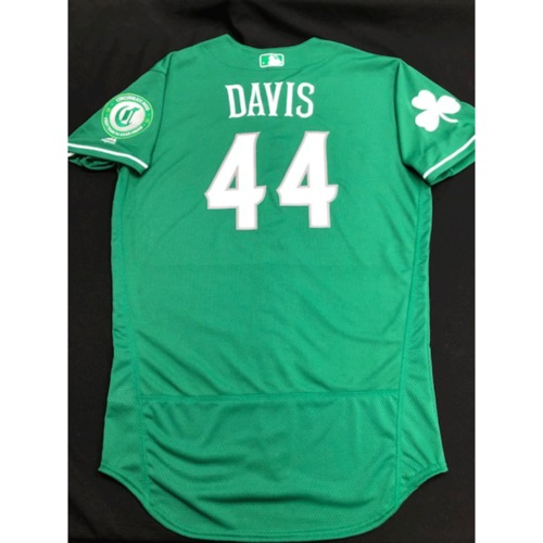 Photo of Eric Davis -- Team-Issued Jersey -- 2019 St. Patrick's Day