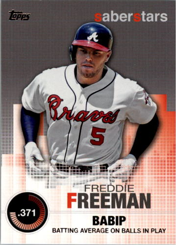 Photo of 2014 Topps Saber Stars #SST15 Freddie Freeman
