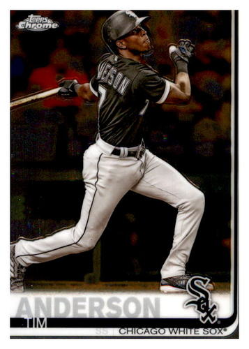 Photo of 2019 Topps Chrome #186 Tim Anderson
