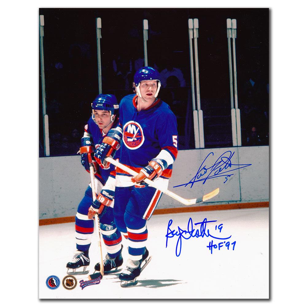 Bryan Trottier & Denis Potvin New York Islanders Dual Autographed 8x10