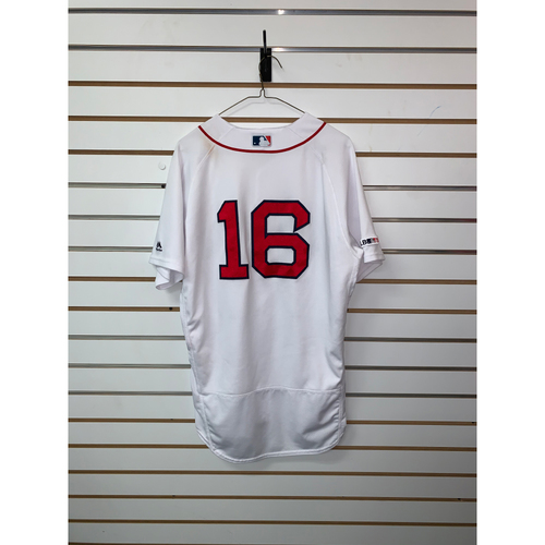 Photo of Andrew Benintendi Game Used June 10, 2019 Home Jersey - Home Run, 2 RBIs