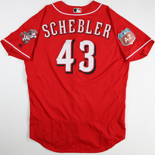 Photo of 2016 Spring Training - Spring Training Game Used Jersey - Scott Schebler (Reds)- Size- 48