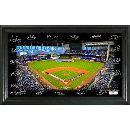 Photo of Miami Marlins 2020 Signature Field Limited Edition Frame