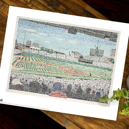 Photo of Wrigley Field Art Print by Dan Duffy, Art of Words- Chicago Cubs