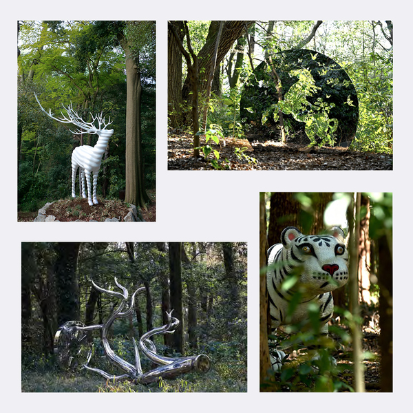 Photo of 野外彫刻展「天空海闊」<br>ポストカード4種-Aセット