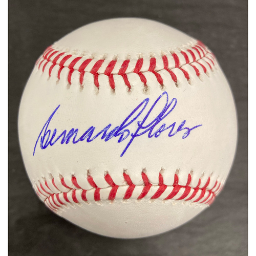 Photo of Bernardo Flores Autographed Baseball