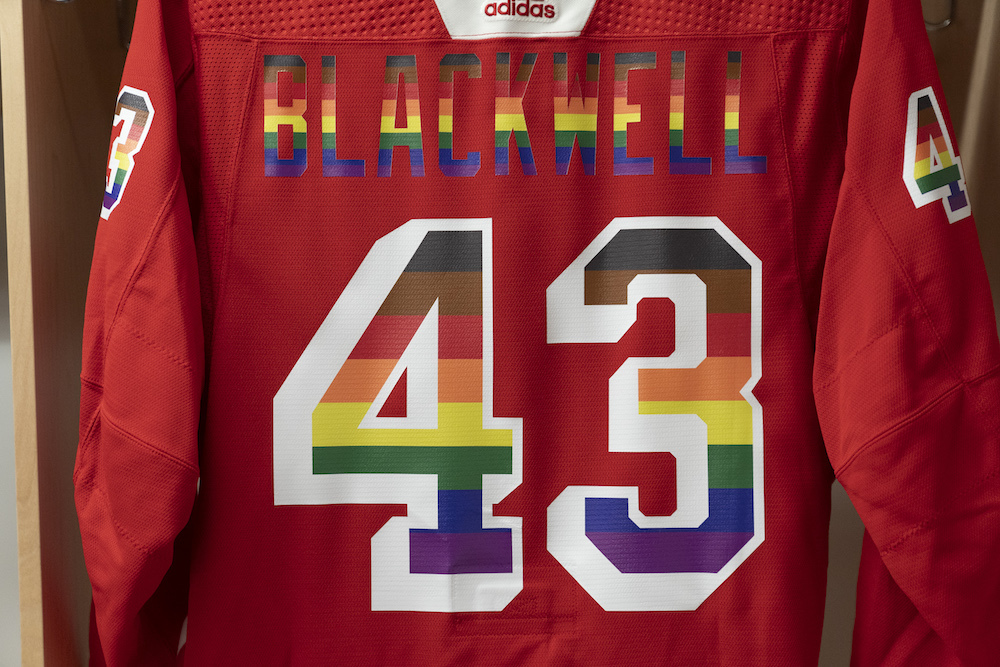 Autographed Pride Night Warm-Up Jersey: #43 Colin Blackwell - New York Rangers