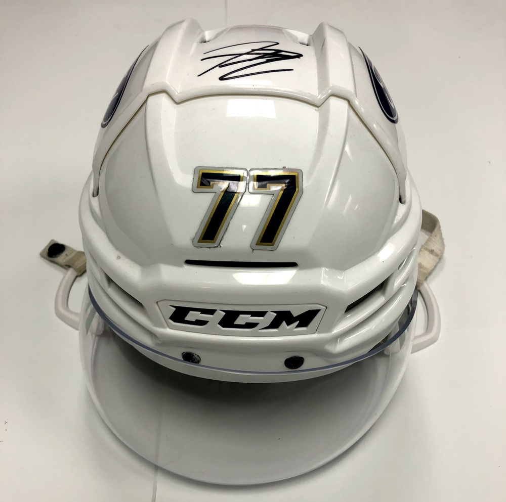 #77 Frank Vatrano Game Used Helmet - Florida Panthers