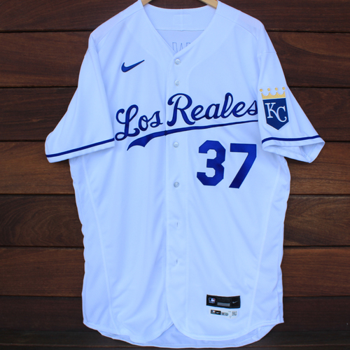 Photo of Game-Used Los Reales Jersey: Jackson Kowar #37 (SEA@KC 9/17/21) - Size 46