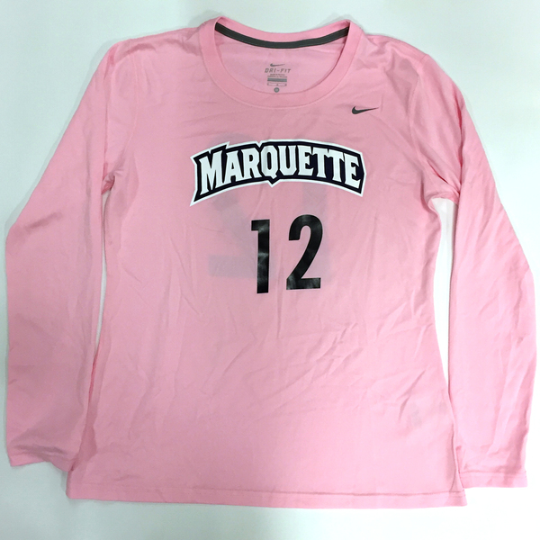 Photo of 2017 Marquette Women's Soccer 'Kick for a Cure' Jersey #12 (Size M)