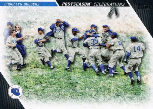 Photo of 2017 Topps Update Postseason Celebration #PC25 Brooklyn Dodgers