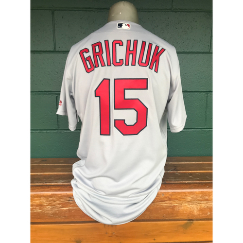 Photo of Cardinals Authentics: Randal Grichuk Team-Issued Road Grey Jersey