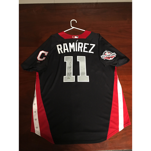 Photo of Jose Ramirez 2018 Major League Baseball Workout Day Autographed Jersey