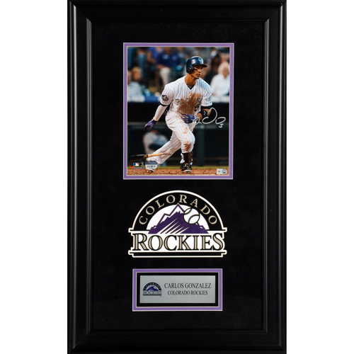 "Photo of Carlos Gonzalez Colorado Rockies Deluxe Framed Autographed 8"" x 10"" Photo"