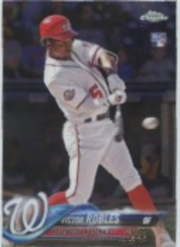 Photo of 2018 Topps Chrome Update #HMT22 Victor Robles Rookie Card