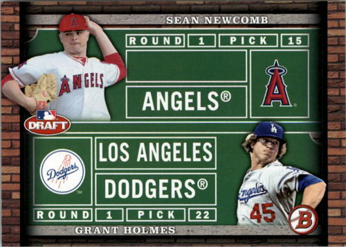 Photo of 2014 Bowman Draft Dual Draftees #DDNH Grant Holmes/Sean Newcomb