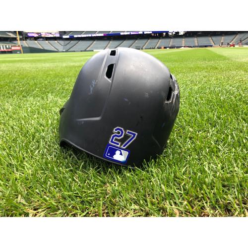 Photo of Colorado Rockies Game-Used Helmet - Trevor Story