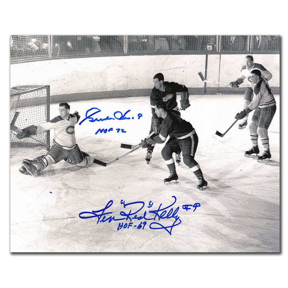 Gordie Howe & Red Kelly Detroit Red Wings HOF Dual Autographed 8x10