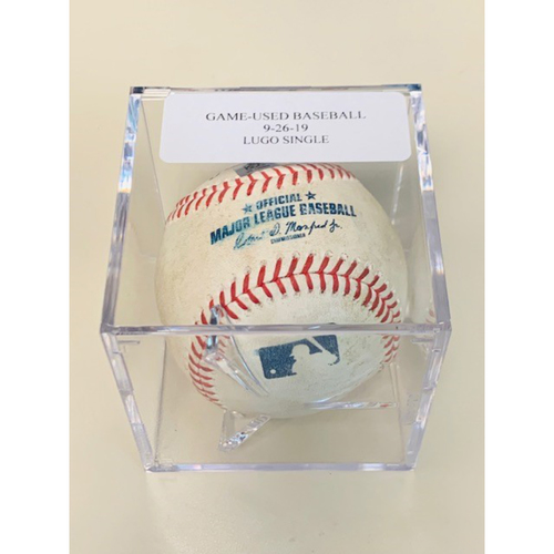 Photo of Game-Used Baseball: Dawel Lugo Single