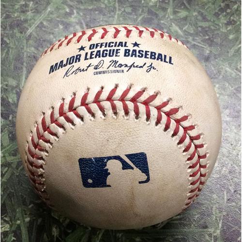 Photo of Game-Used Baseball HOU@MIL 09/03/19 - Zack Greinke - Ryan Braun: Foul