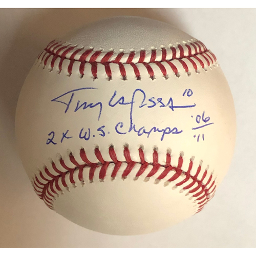 "Photo of Tony La Russa ""2x Champs 06/11"" Autographed Baseball"