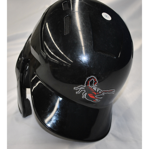 Photo of Arizona Fall League - Game-Used Batting Helmet - Player Name: Patrick Mazeika (NYM) - Jersey Number: 19