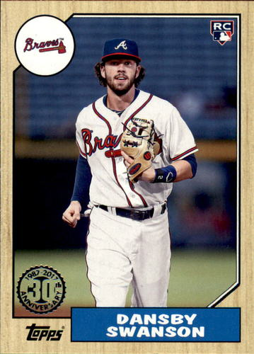 Photo of 2017 Topps '87 Topps #87139 Dansby Swanson
