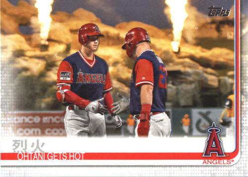 Photo of 2019 Topps #367 Ohtani Gets Hot/Shohei Ohtani/Mike Trout