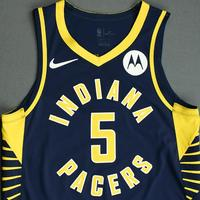 Edmond Sumner - Indiana Pacers - Game-Worn Icon Edition Jersey - NBA India Games - 2019-20 NBA Season
