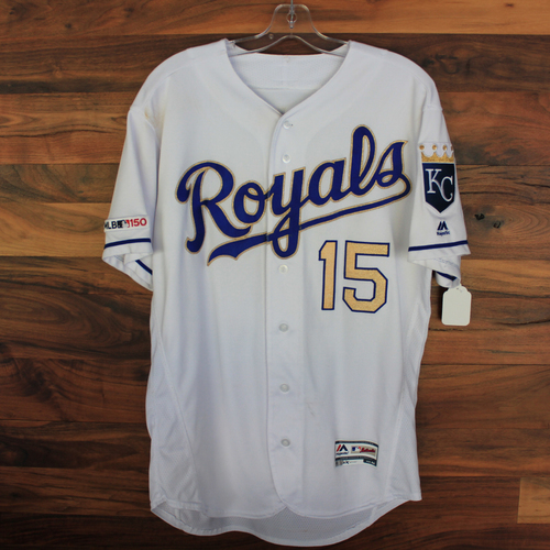 Photo of Game-Used Jersey: Whit Merrifield 651st Career Hit and 22nd Career Triple (Size 44 - MIN @ KC - 9/27/19)