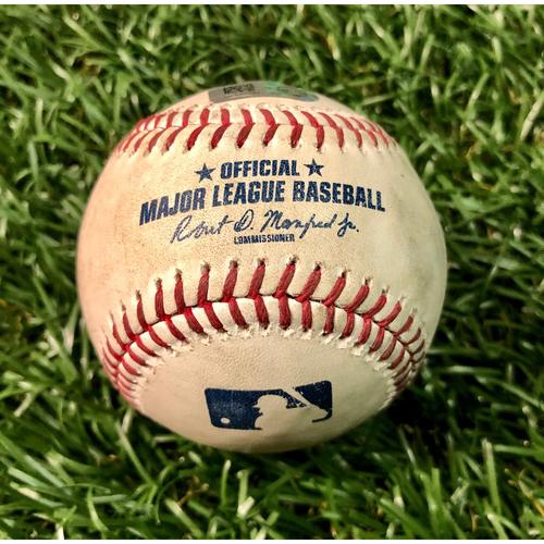 Photo of Game Used Baseball: Austin Meadows single off Jason Adam - August 6, 2019 v TOR