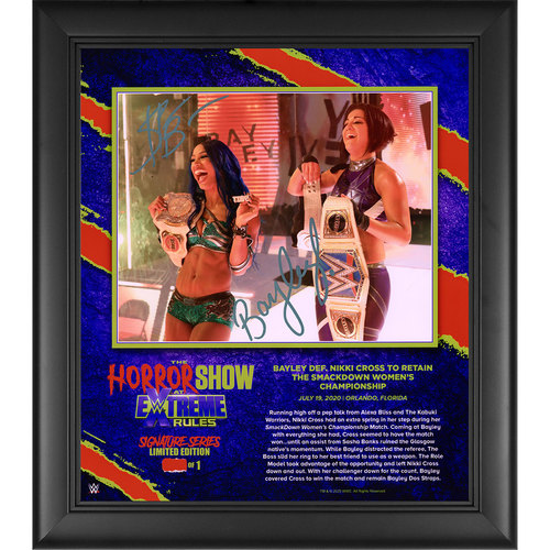 Sasha Banks and Bayley SIGNED Extreme Rules 2020 Signature Series Frame (#1 of 1)