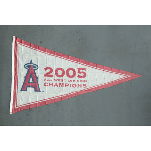 Photo of Los Angeles Angels 2005 American League West Division Champions Team-Issued Pennant