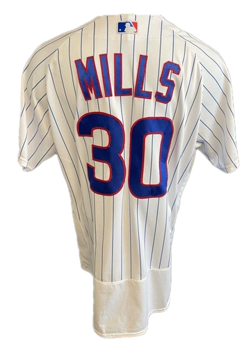 Photo of Alec Mills Game-Used Jersey -- Mother's Day 2021 -- Pirates vs. Cubs -- 5/9/21 -- Size 44C