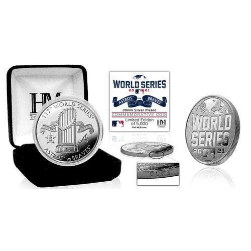 Photo of Houston Astros vs Atlanta Braves 2021 World Series Dueling Silver Coin LE #1