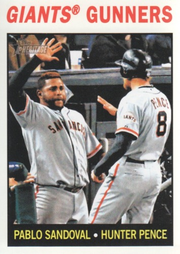 Photo of 2013 Topps Heritage #306 Pablo Sandoval/Hunter Pence