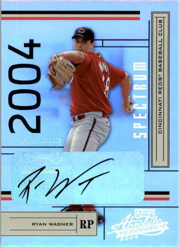 Photo of 2004 Absolute Memorabilia Signature Spectrum Silver #62 Ryan Wagner/100