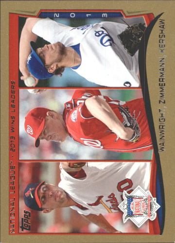 Photo of 2014 Topps Gold #294 Adam Wainwright/Jordan Zimmermann/Clayton Kershaw LL