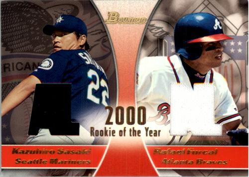 Photo of 2001 Bowman #ROYR Kazuhiro Sasaki/Rafael Furcal ROY Jsy