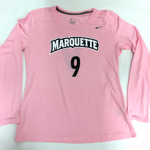 Photo of 2017 Marquette Women's Soccer 'Kick for a Cure' Jersey #9 (Size M)