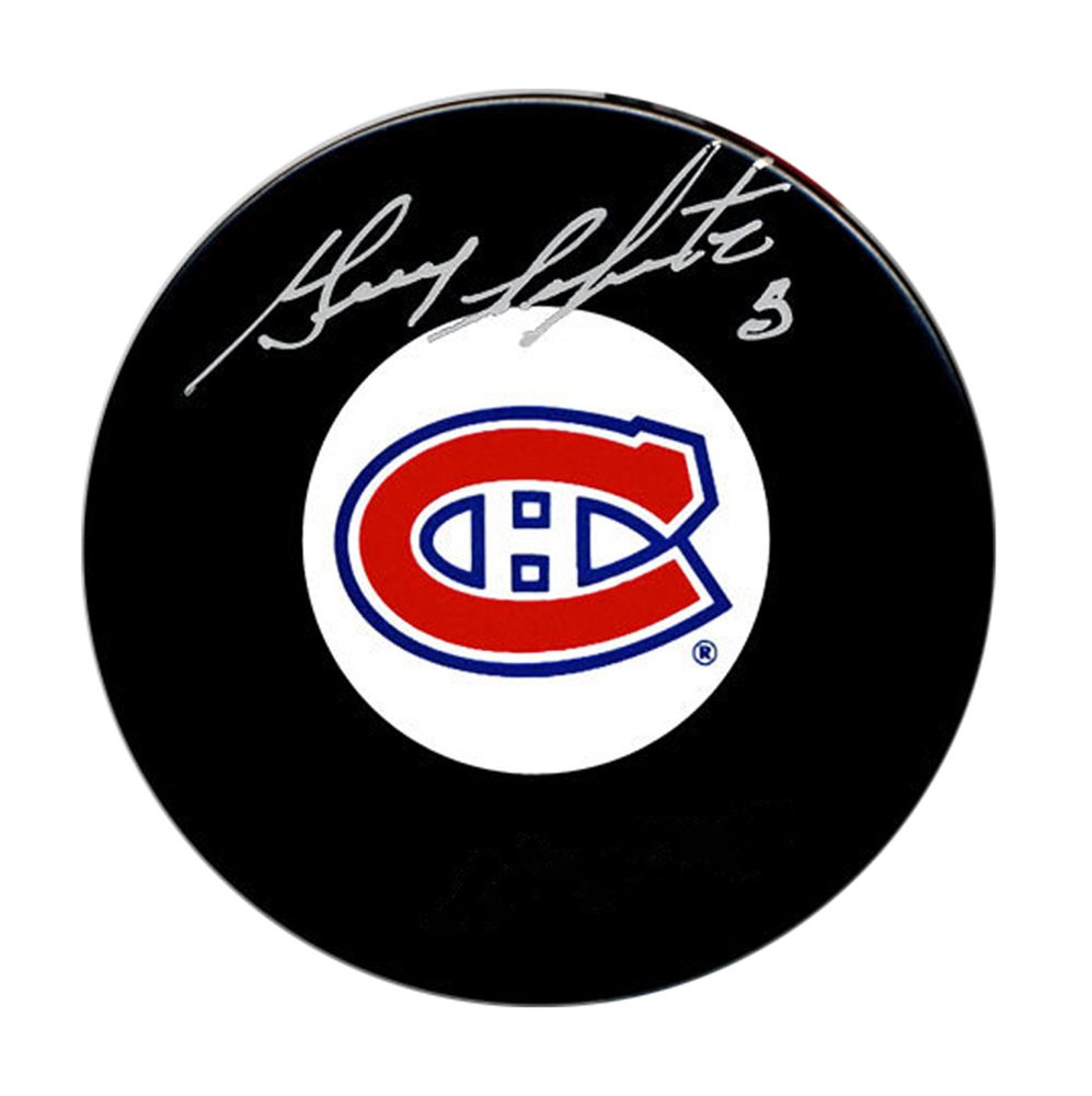 Guy Lapointe Signed Puck Canadiens