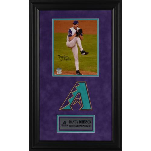"Photo of Randy Johnson Arizona Diamondbacks Deluxe Framed Autographed 8"" x 10"" Photo with HOF15 Inscription"