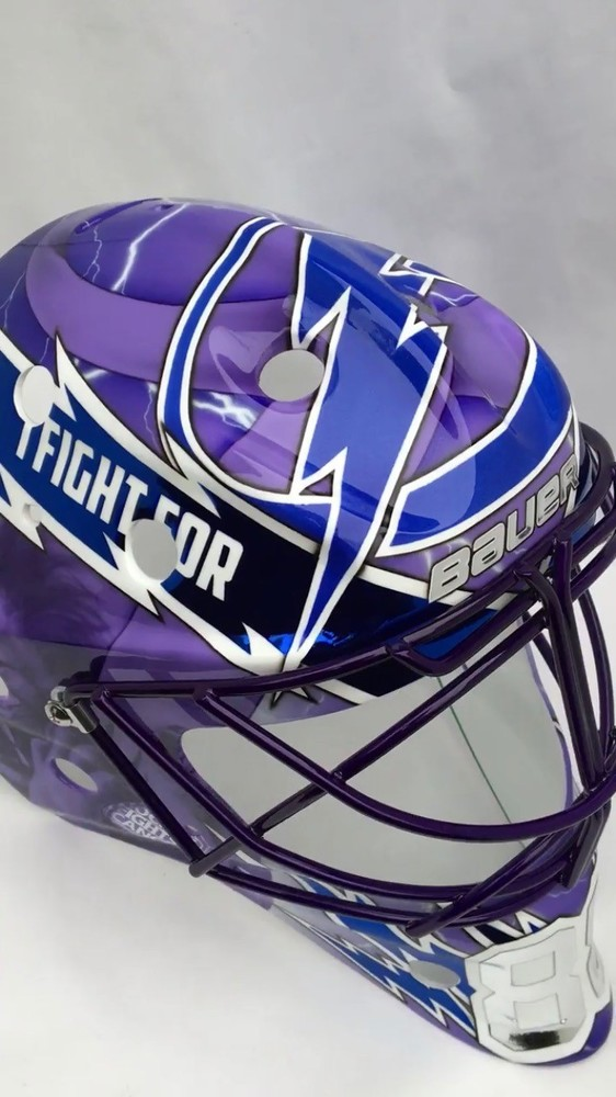 Andrei Vasilevskiy Tampa Bay Lightning 2018 Hockey Fights Cancer Mask