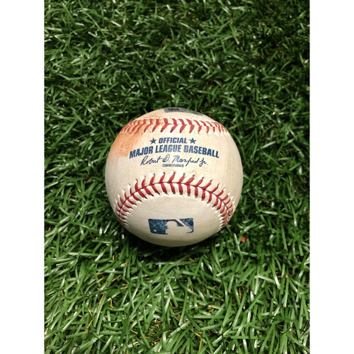 Photo of Game Used Baseball: Diego Castillo strikes out Jackie Bradley Jr. - April 21, 2019 v BOS