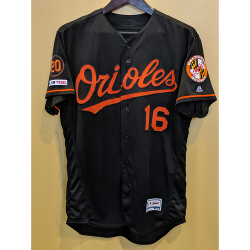 Photo of Trey Mancini - Black Alternate Jersey: Game-Used (HR)