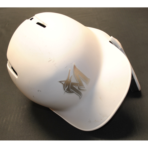 "Photo of Jordan ""YAMI"" Yamamoto Miami Marlins Game-Used 2019 Players' Weekend Helmet"
