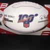 HOF - Saints Willie Roaf Signed NFL Auction Exclusive Panel Ball W/ 100 Seasons Logo