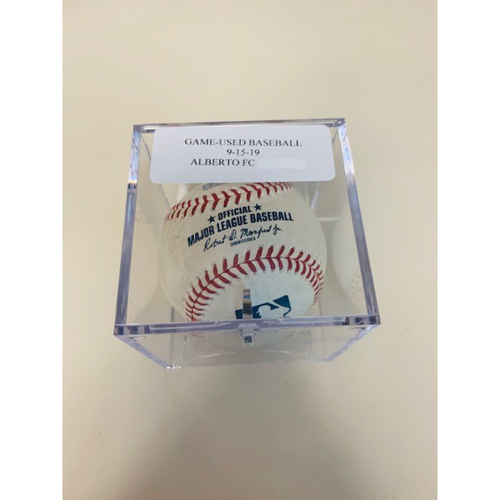 Photo of Game-Used Baseball: Hanser Alberto Reached First on Fielders Choice